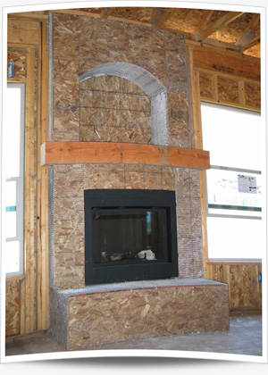 Stucco soffit vent - Build sealed fireplace home step step ...