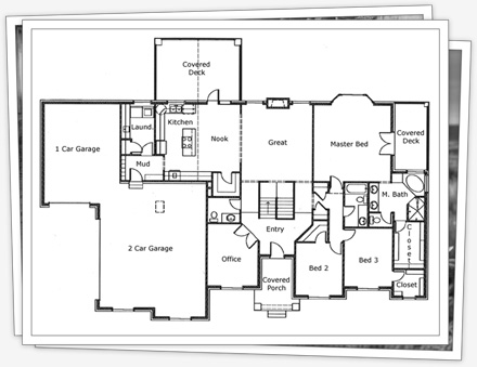 plan for the main floor - Step House Plans
